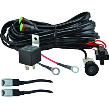 amazon.com: hella 357211011 valuefit two light wiring harness,black:  automotive  amazon.com