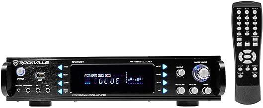 Rockville 1000w 2-Ch USB بلوتوث DJ / Pro / کارائوکه تقویت کننده میکسر، 19 اینچ (RPA60BT)