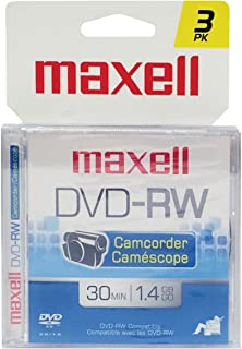 Maxell 567655 DVD-RW Camcorder Rewriteable - 3 Pack Jewel Case