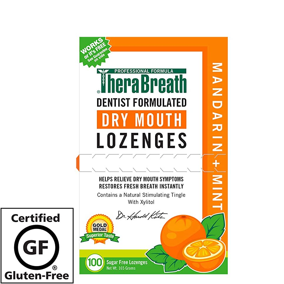 衛星マネージャー合わせてTheraBreath, Dry Mouth Lozenges, Mandarin Mint, 100 Wrapped Lozenges, 165 g