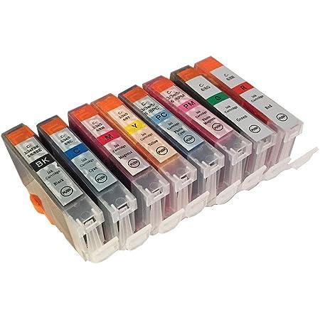 3年保証 キャノン (CANON)用 BCI-6 / BCI-8 互換インクカートリッジ 8色セット BK/C/M/Y/PC/PM/G/R ベルカラー製