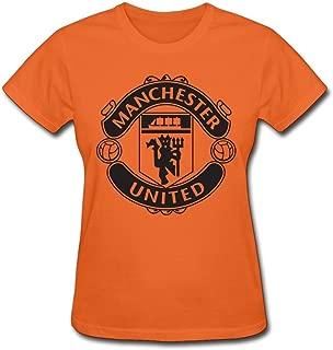 HUBA Women's T-shirts Manchester United 2 Orange Size L