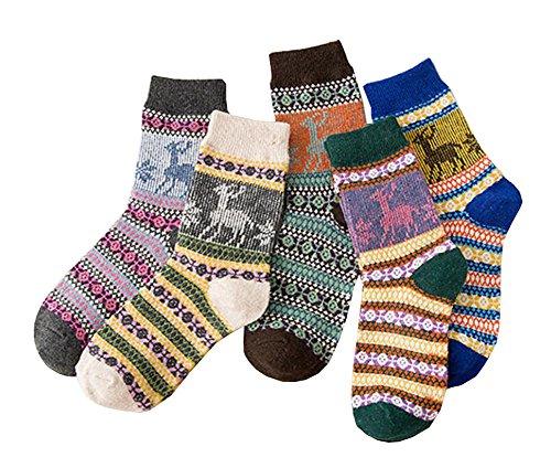 Black Temptation Frauen-Socken-Komfort-Baumwoll-Knöchel-hohe Socken - 5 Paare