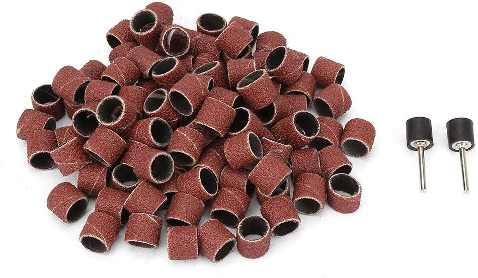 100Pcs trust Quality inspection 12mm Abrasive Sand Paper Wheel Ring Circle Flap Sandpaper