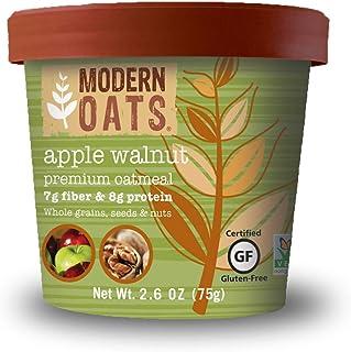 Modern Oats Apple Walnut Oatmeal, 2.6 Ounce (Pack of 12)