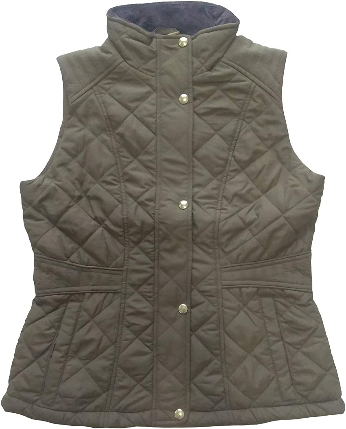 Weatherproof Women Lightweight Full Zip and Buttons Soft Down Puffer Winter Quilted Vest