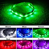 Blazin' Safety LED Dog Collar – USB Rechargeable with Water...