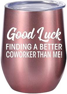 Coworker Leaving Gifts - Wine Tumbler 12oz - Gift Idea for New Job, Boss, Goodbye Gifts, Farewell, Women, Bulk, Glass, Going Away, Good Luck
