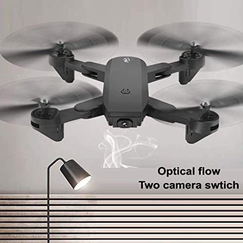 Rc Dronhe, CHshe Rc Quadcopter 1080P Dual Fpv Hd Kamera Optischer Fluss Selfie Drohne, Optische Durchflusspositionierung 360° Spiegeln Echtzeitübertragung Mobile Steuerung Drohne Flugzeuge
