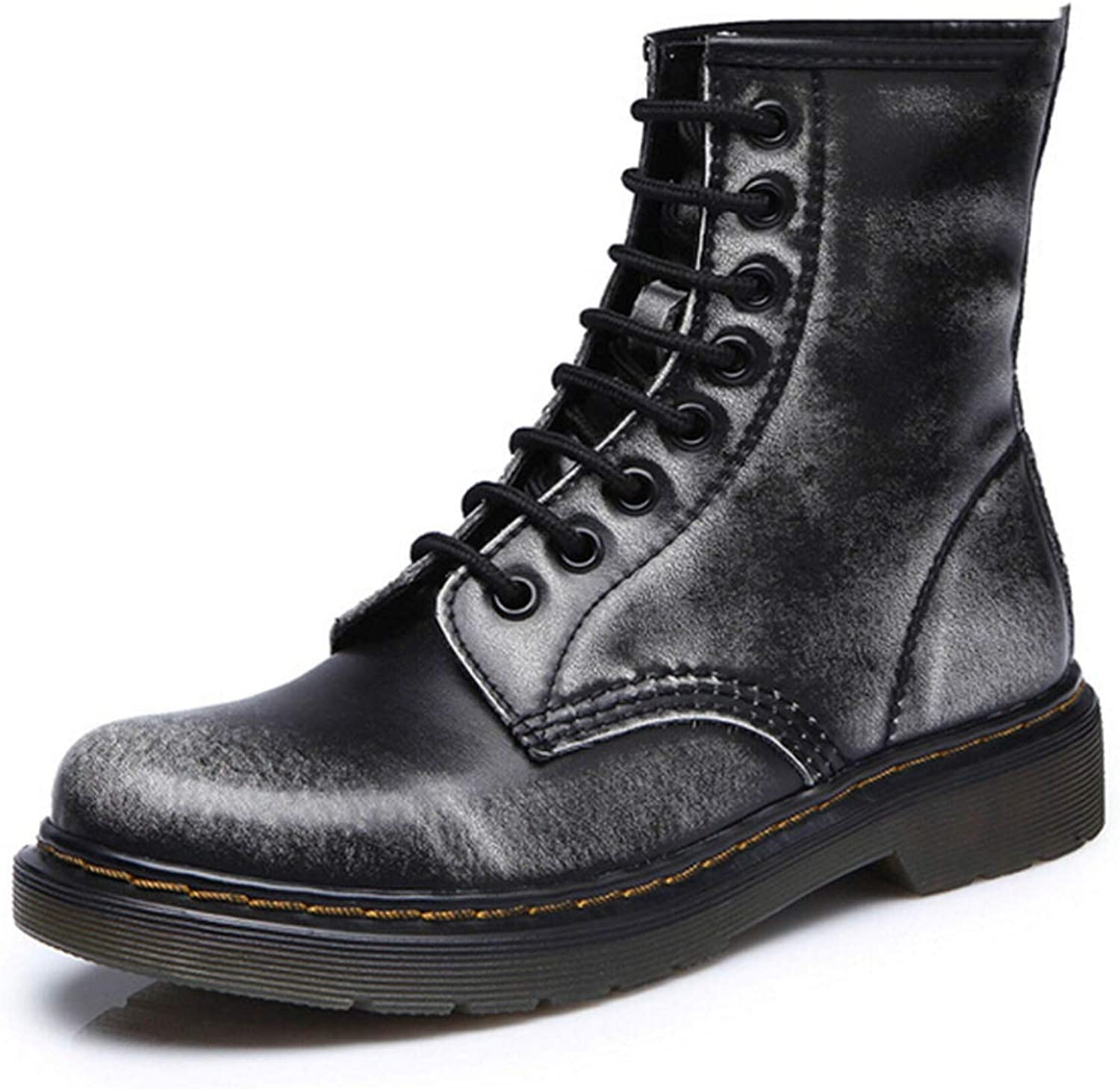Split Leather Men Boots Martin Boots shoes High Top Motorcycle Autumn Winter shoes