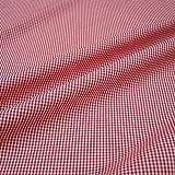 Stoff am Stück Stoff Baumwolle Vichy Karo klein rot weiß
