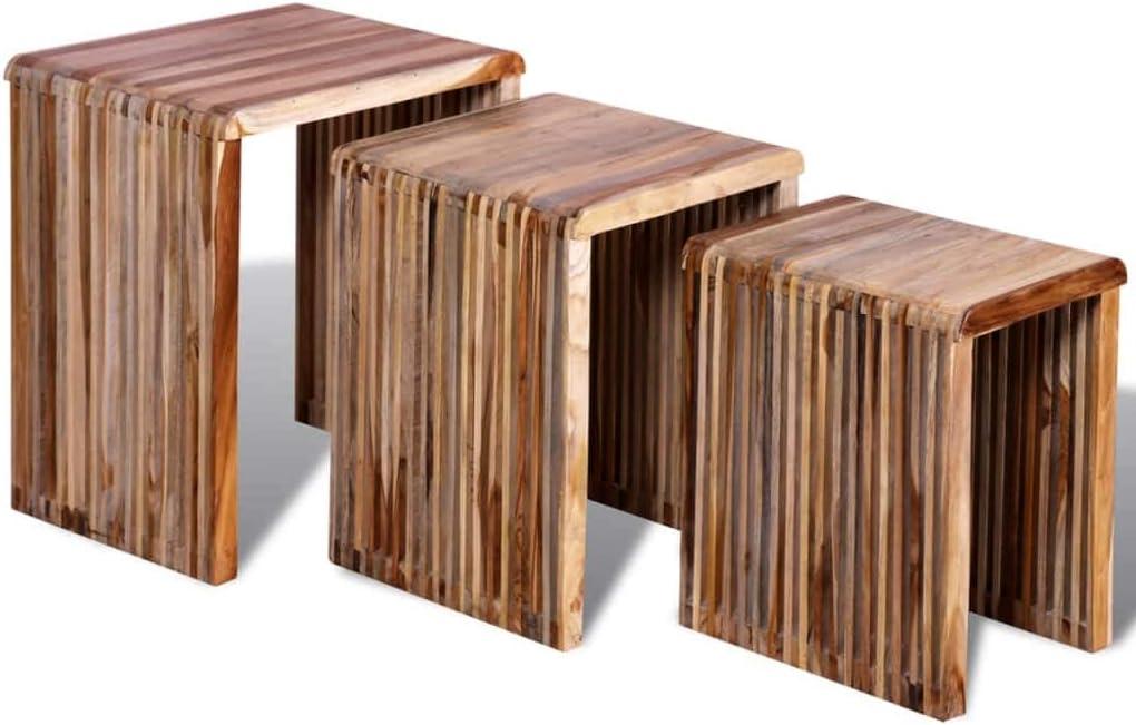 vidaXL Nesting 売り出し Table Set 3 Tab 正規品スーパーSALE×店内全品キャンペーン Coffee Pieces,Living Room