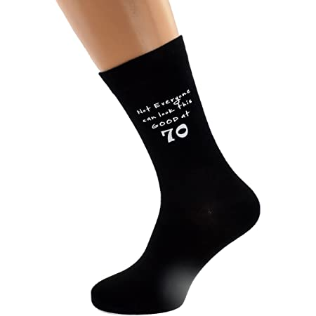 Not Everyone Can Look This Good at 70 Black Mens Socks for 70th Birthday Present