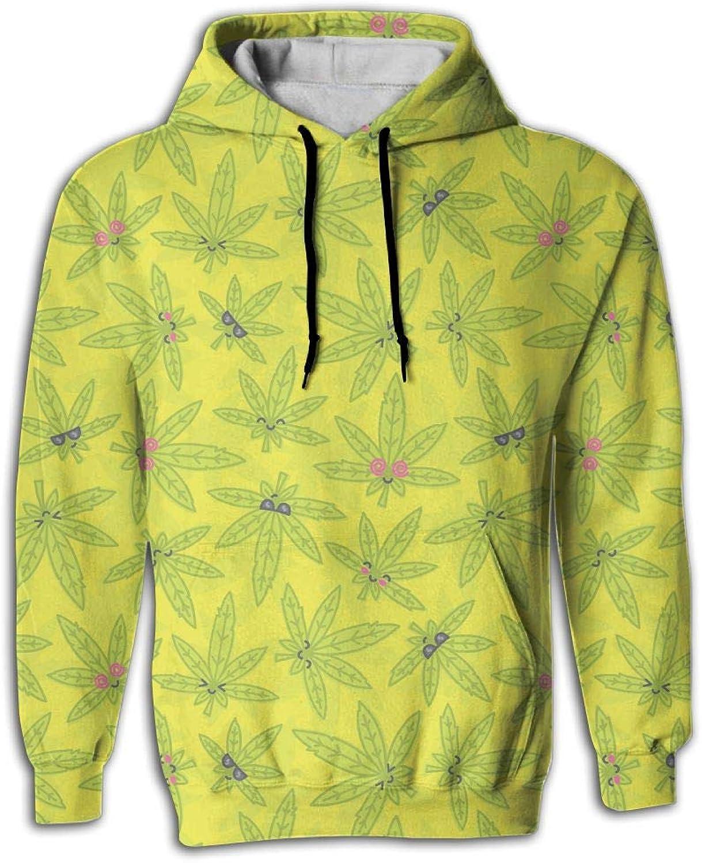 Wkylt Cheap Big Pockets Casual Clothing Cartoon Kawaii Weed Sports Hoodies