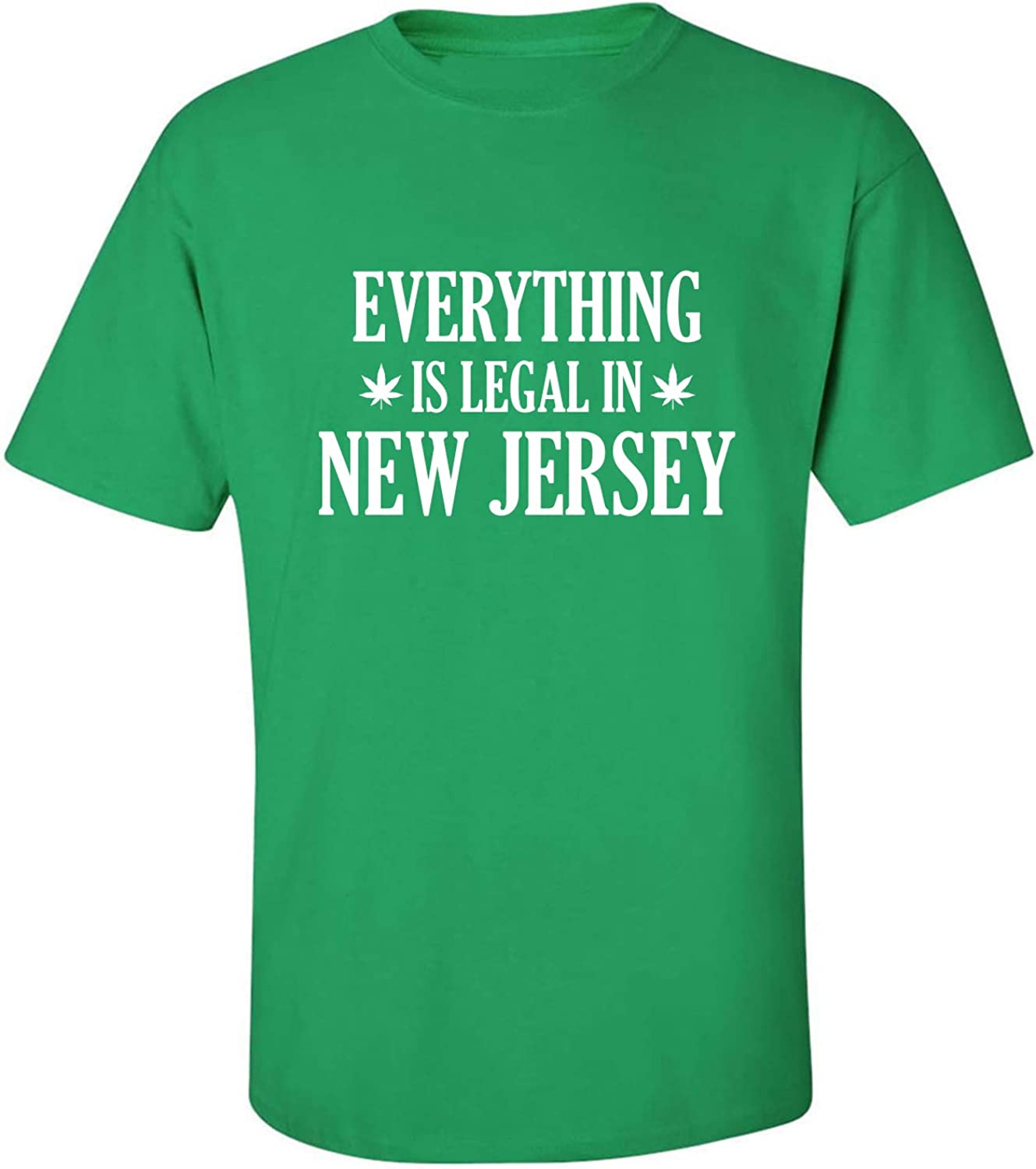 Everything is Legal in New Jersey Adult T-Shirt in Kelly Green - XXXXX-Large