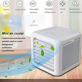مروحة مكيف هواء، مبرد هواء صغير شخصي USB صغير ومنقي هواء صغير، مروحة تبريد تبريد مع مقبض محمول لغرفة المنزل والمكتب