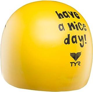 TYR Have a Nice Day - Gorro de Silicón. Color: Amarillo.