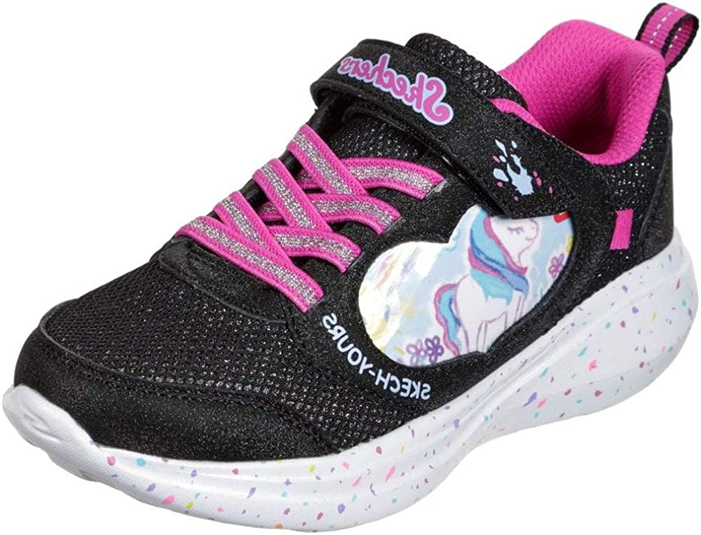 SKECHERS KIDS GIRLS GO RUN FAST BLACK SNEAKER MISS CRAFTY - Outlet ☆ Free Shipping Beauty products