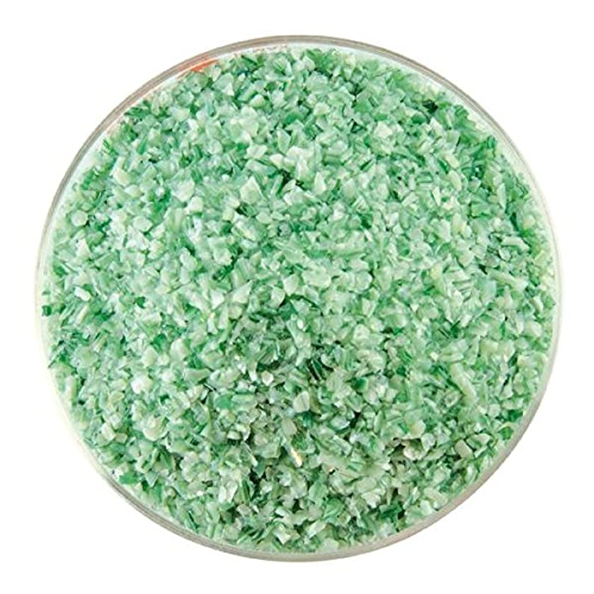 New Hampshire Craftworks Mint Green Opalescent & Aventurine Green Transparent 2-Color Mix Fusible Glass Medium Frit - 4oz - 90COE - Made from Bullseye Glass