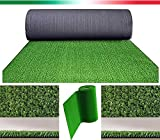 prato sintetico 7mm manto erboso finta erba giardino tappeto 14 misure disponibili (2x5 metri) olivoshop®