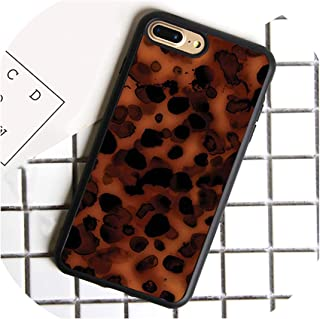 Tortoise Shell Pattern Marble Phone Case for iPhone 5 6s 7 8 Plus X XR XS max 11 Samsung Galaxy S7 Edge S8 S9 S10 Plus,for iPhone 7 Plus,6825