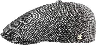 Lierys Coppola Ventano Patchwork Uomo - Made in Italy Cappellino Lana Cappello Piatto da con Visiera Autunno/Inverno