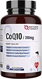 Sponsored Ad - CoQ10 200mg Softgels Supplement with Organic-Olive-Oil - High Absorption Coenzyme Q10 - Antioxidant for Car...