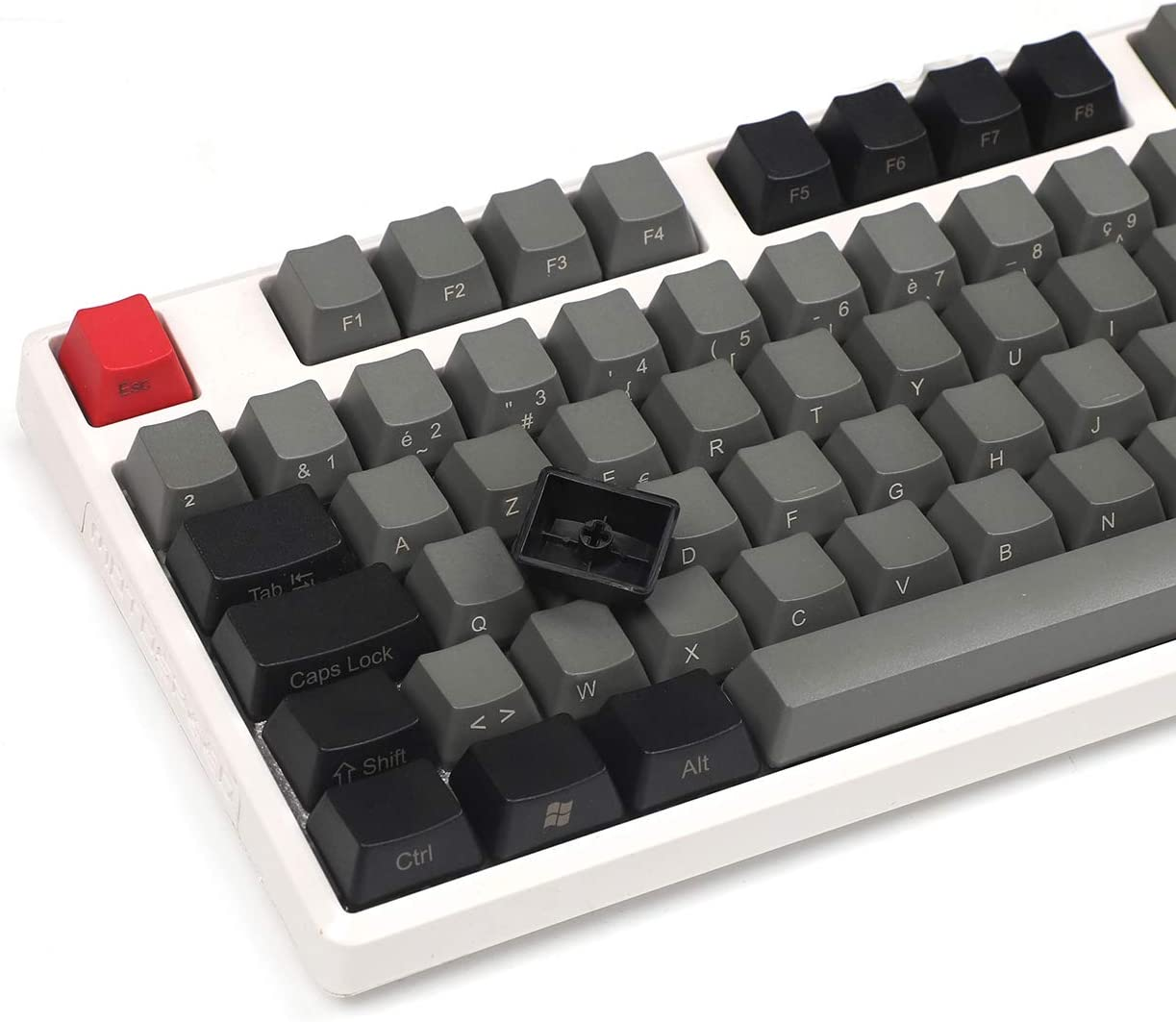 Dolch Only Keycap 105 Key Side-Printed YMDK Thick PBT Keycap Azerty Keycap Set French ISO Layout OEM Profile for MX Switches Mechanical Keyboard