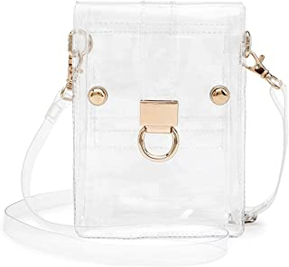 SharPlus Clear Crossbody Bag Purse for Women Plastic Transparent Bag Cellphone Case Pouch Handbag for Sporting Events Stadium Approved, Concerts, Beach, Work & School