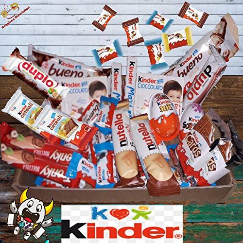 Mistery Kinder Ferrero Box da 54 Snack Con Ovetto Sorpresa e Joy Confezione Assortita Barrette Cioccolato Idee Regalo Compleanni Circa 750 gr
