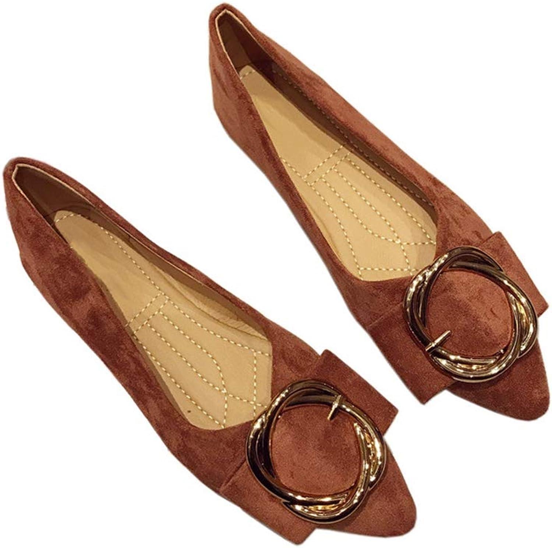 August Jim Kvinnors Bekväma skor med tåhäckar tåhäckar tåhäckar Slip på ballett platta skor  väntar på dig