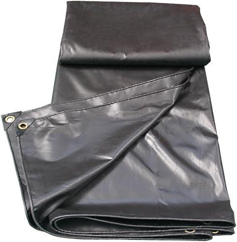 Bache HUO Durable pour La Couverture D'articles, Tissu De Hangar, Toile Anti-UV Imperméable à l'eau, Noir - 200g   M2 (Couleur   Noir, Taille   4  6m)