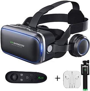 XGVRYG Auriculares 3D VR, 108 ° FOV, Auriculares de Realidad Virtual HD con protección Ocular con botón táctil para Casi T...