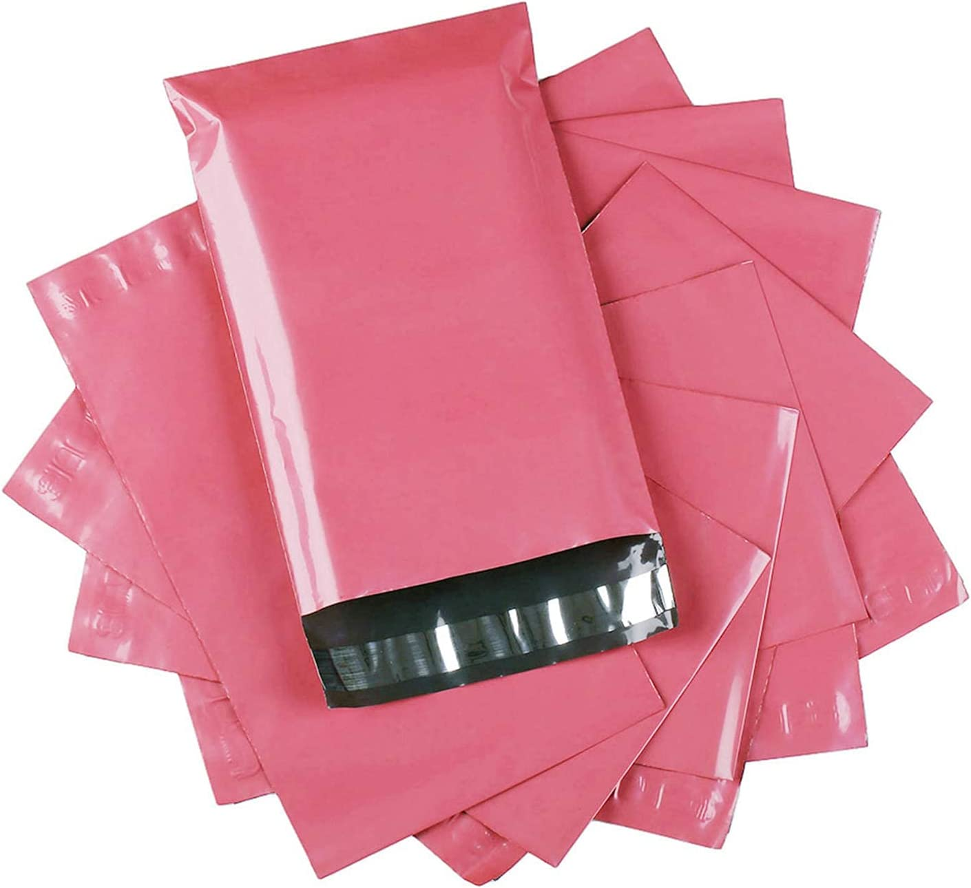 SUNN Hot Pink 12x15.5 Inch 100Pcs Envelope Max 86% OFF W Mailers Postal Bags Ranking TOP16