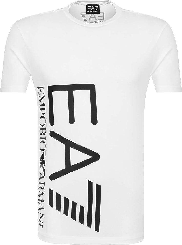 Emporio armani ea7 t-shirt,maglietta per uomo,95% cotone, 5% elastan 3ZPT36 PJM5Z