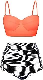 2019 Hot Style Women Vintage Polka Dot High Waisted Bathing Suits Bikini Set