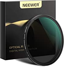 Neewer 58mm Variable Fader ND Filter Neutral Density Variable Filter ND2 to ND32 (1-5 Stop) for Camera Lens + No Black Cro...