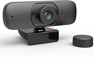 Webcam, HD 1080P Autofocus computer webcam with USB 2.0 drive-free interface Plug and Play built-in microphone privacy cov...