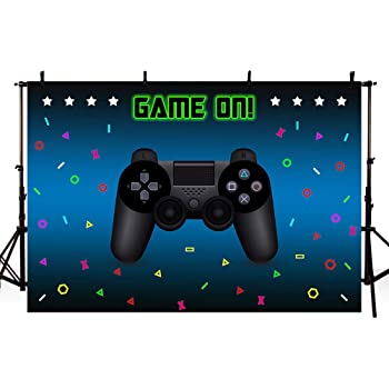 2.1x1.5m Party Decor Supplies Photo Shooting Props 133 Zhy Game on Backdrop for Photography Game Console Background 7x5ft