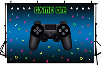 MEHOFOTO Video Game Party Photo Studio Booth Background Props Gaming Boy Game On Birthday Party Decorations Banner Black Backdrops for Photography 7x5ft