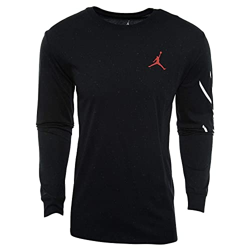 17db9975543 Nike Mens Jordan Sportswear Flight Cement Long Sleeve T-Shirt