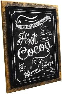 ホットココア メタルサイン 壁装飾 季節のオカッション用 フレーム アウトドア サイズ 12 x 16 装飾サイン tokohomebody