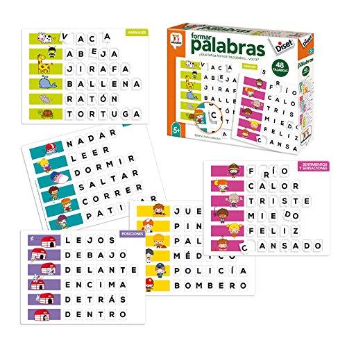 Diset- Aprendo 5 años Juguete educativos Formar Palabras (68952)