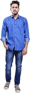 ALEX LONDON BLUEPOCKET Denim Shirt for Men(Casual, Royal Blue)