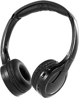 سماعات رأس لاسلكية لاسلكية من Douself IR تعمل بالأشعة تحت الحمراء مع سماعة رأس سلكية ذات قناة مزدوجة لمشغل الدي في دي السيارة