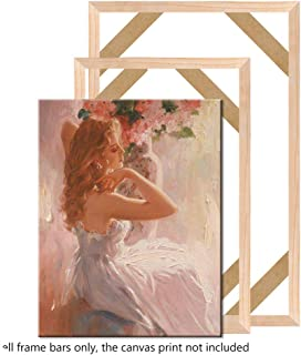 Anges-Store DIY Wood Frame for Oil Paint Canvas Paint Frame Natural Poster Photo Bar Kit Gallery Wall Art Living Room Office Wall Decoration,Height 40cm,Width 60cm