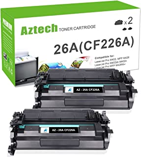 Aztech Compatible Toner Cartridge Replacement for HP 26A CF226A 26X CF226X (Black, 2-Packs)