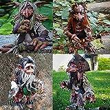 Großer Kobold, Gartenzwerge des Troll-Clans,Halloween deko, Fantasy-Skulpturen, Garten Big Goblin, Vintage Gothic Goblin Garden Decor, Garden Goblin Character Skulptur Dekorationen (4pcs)
