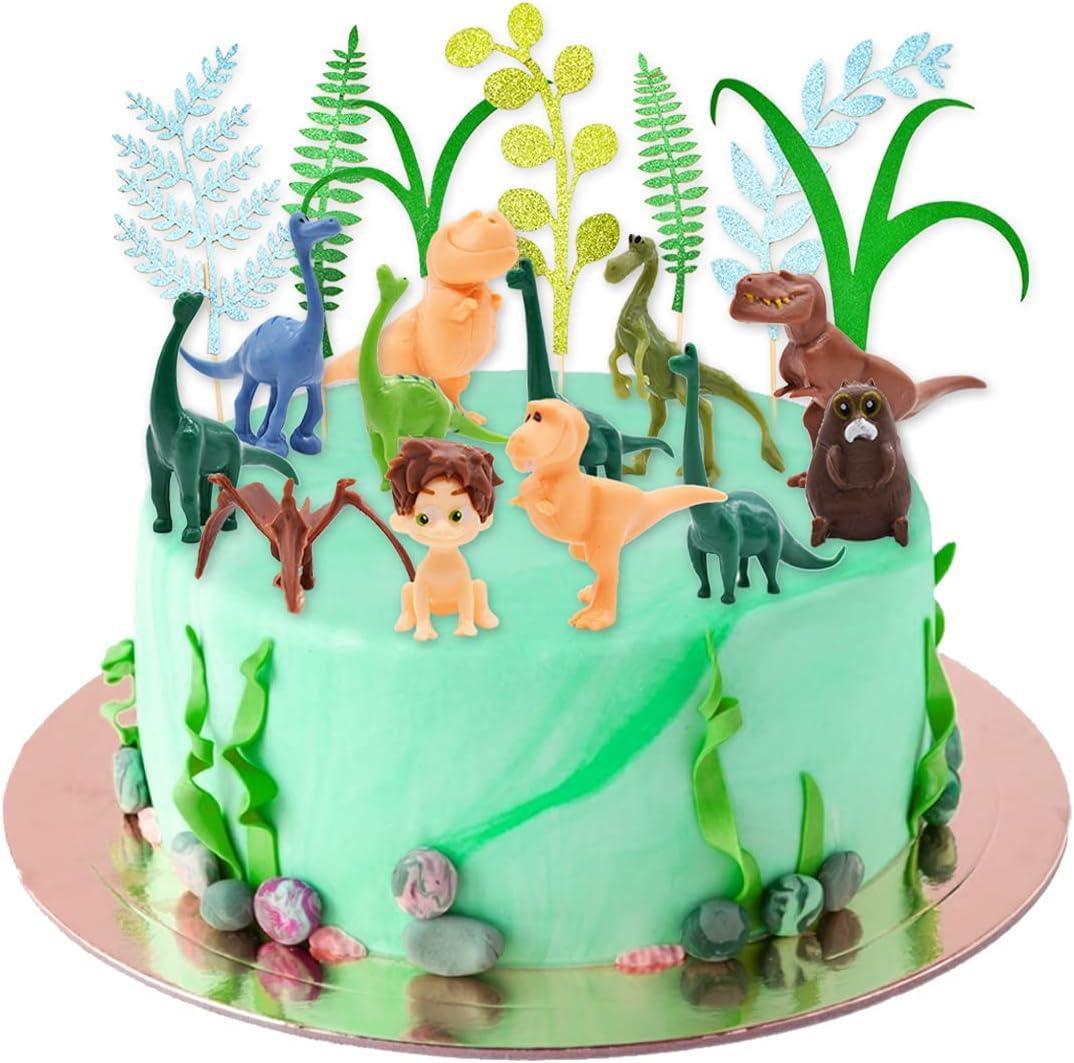 Figuras de Dinosaurios,Decoración para Cakes de Dinosaurio,Dinosaurio Cake Decoración Tarta de Niños Fiesta de Cumpleaños