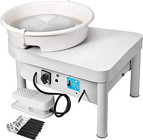 2021 Mophorn Pottery Wheel 25CM Pottery Forming Machine 350W Electric Wheel for Pottery with Foot Pedal and Detachable Basin Easy outlet sale Cleaning for popular Ceramics Clay Art Craft DIY outlet online sale